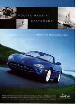 1998 JAGUAR XK8 32-VALVE 290 HP ~ ORIGINAL PRINT AD