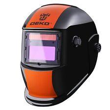 DEKO Solar Auto Darkening MIG MMA Electric Mask Helmet Welder Cap Welding Orange