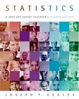Statistics: A Tool for Social Research, Joseph F. Healey, Good Book
