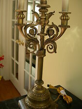 Maitland Smith Antique Brass and Stone Table Lamp