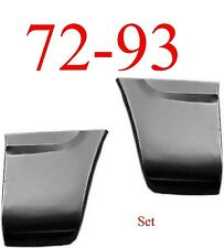 72 93 Dodge Rear Fender Bottom Set Regular & Club Cab Ram Truck, Ramcharger