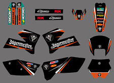 Background Graphics Stickers Decal Deco Full Kit For KTM 400 450 525 SX XCW EXC