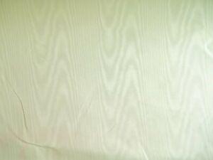 "Vintage Pale Yellow Ivory Grosgrain Satin Moire Watermark Taffeta Fabric 45"" BTY"