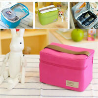 Portable Insulated Thermal Cooler Lunch Box Tote Picnic Storage Bags Pouch New