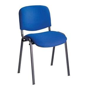 30 x Conference  Stacking Chair Blue Fabric (MULTIBUY OFFER)