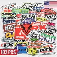 103Pcs Auto Car Parts NHRA Drag Racing Vinyl Graphics Stickers Bomb Decals Pack