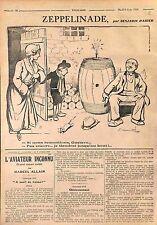 Zeppelinade Bombardement Cave à Vin Guerre Dessin Benjamin Rabier  WWI 1916