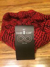 D&Y Women's Knit Red /Black Multi- Loop Wrap / Muffler- NEW