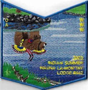 OA Wauna La-Mon 'Tay Lodge 442 2003 Indian Summer Flap Set BLU Bdr. CPC [MX-7830