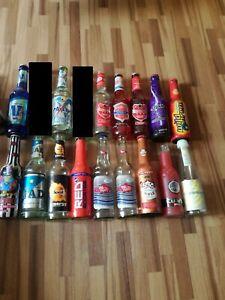Energy drink Flaschen Auflösung Voll Leer collector Empty Glas bottle big pump