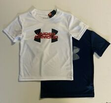 Kid 4-7 Boy Size 2 Pieces Under Armour UA Logo Graphic Short Sleeve Tee T-shirt