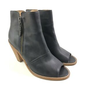 Corso Como Open Toe Boots Womens Size 9 Ankle Bootie Stacked Heel