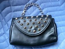 Women's Chain Link Hand Strap Phone Case/ Wallet/ Envelope Clutch Silver Studded