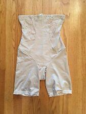 Maidenform Vintage Chic High Waist Thigh Slimmer Lace 2042 Beige Small