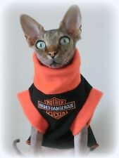 HIGHLY DANGEROUS cat jumper for a Sphynx  cat, Sphynx clothes, jumper HOTSPHYNX.