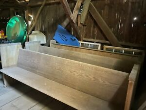 Antique Vintage Church Pews Solid Oak Colonial Furniture Manufacturers Newark NJ