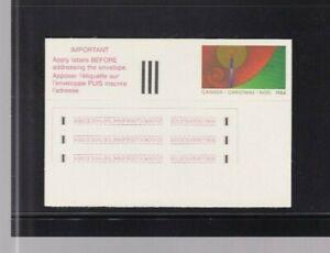CANADA 1984 STICK & TICK # 2 UNUSED POST CARD