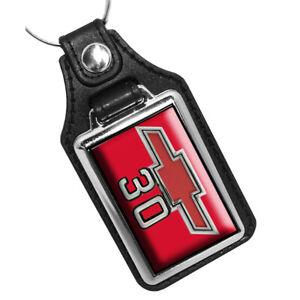 1967 1968 Chevrolet C30 Truck Exterior Color Emblem Design Faux Leather Key Ring