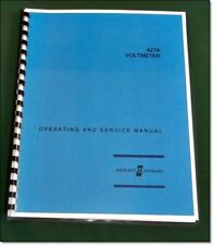 """HP 427A Operating & Service Manual: w/11""""X17"""" Schematic & Protective Covers"""