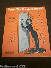ORIGINAL SHEET MUSIC - OPEN THE DOOR, RICHARD!