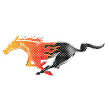 """Ford Mustang Flame Pony 12"""" 3M Perforated Unobstructed View Window Graphic Decal"""