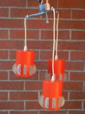 lustre orange 3 abat-jour en métal années 1960/1970