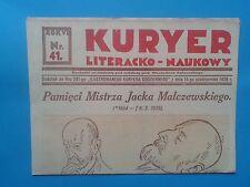 KURIER LITERACKO NAUKOWY nr.41 - Kraków 1929 r.