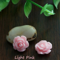New 30pcs/lot 7 Colors Resin Rose Flower flatback Appliques For DIY phone/craft