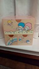 "Vintage Sanrio 1976 ""Little Twin Stars"" Storage Box Drawer Chest Japan RARE"