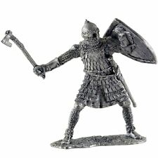 Russian warrior, 14th c. Tin toy soldiers 54mm miniature statue. metal sculpture
