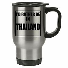 Travel Mug - Id Rather Be In Spain - Stainless Steel Thermal - Reusable Cup Coff