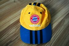 VINTAGE ADIDAS FC BAYERN MÜNCHEN CAP HAT SOCCER FOOTBALL YELLOW 1993-1995 RARE