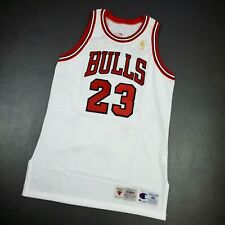 100% Authentic Michael Jordan Vintage Champion 96 97 Bulls Pro Cut Jersey 46+3""