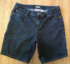Liz And Co Stretch Jean Shorts Size 10 Waist 33 Inseam 8.5