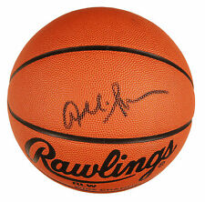 Allen Iverson Signed Full Size Rawlings NCAA Basketball Georgetown 76ers