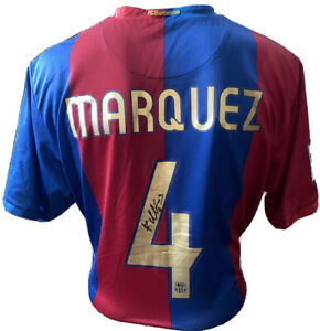 Signed FC Barcelona Shirt By Rafael Marquez Mexico