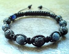 Men's shamballa beaded bracelet Sodalite Lava stone beads cuff wristband jewelry
