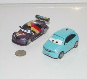 Disney Pixar Cars 2 WGP Lot x2 Max Schnell & Alloy Hemberger 1:55 Diecast Metal