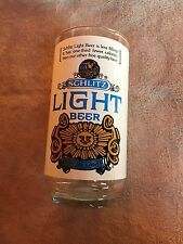 Vintage~SCHLITZ LIGHT~Beer~Glass~Cup~Cocktail~Lager~Rare~Decor~Retro 70's~Gift