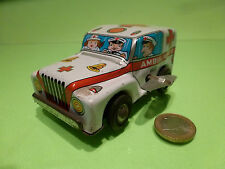 TIN TOYS BLECH MADE IN JAPAN AMERICAN TRUCK JEEP  AMBULANCE - VERY GOOD