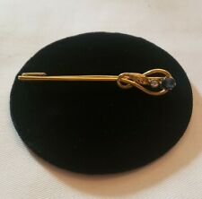 with diamond and sapphire New listing 14kt Gold Snake Pin