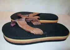 NOS Vintage 80s RAINBOW Flip Flops Two Color Yellow Blush Child Sandals 1 NEW