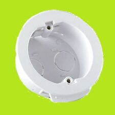 WHITE ROUND 32MM DEEP 60MM DIAMETER FAST FIX DRY LINING BOX FOR PLASTERBOARD