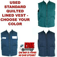 Used Quilted Lined Work Vest Cintas, Unifirst, RedKap, G&K