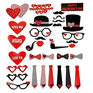 TRIXES Romantic Valentine's Day Photo Party Prop Love Theme Assorted Masks