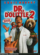 Dr. Dolittle 2 (DVD, 2001, Widescreen, Special Edition) Eddie Murphy