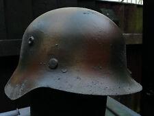 Three Colour Camo M35 Metal  Replica German Helmet