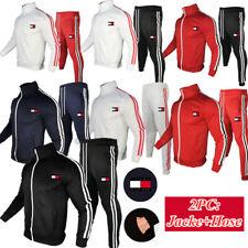 Herren Trainingsanzug Set Jacke Jogginghose Kapuzenpullover Hose Sportanzug Tops