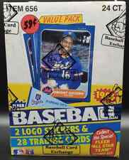 1986 Fleer Baseball Cello Pack Box BBCE Authenticated & Wrapped