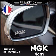 Kit 3 Stickers Retroviseur Voiture NGK - Autocollant auto, retro ref1
